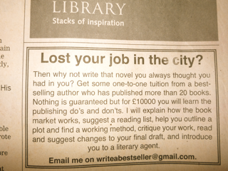 Lost your job in the city?